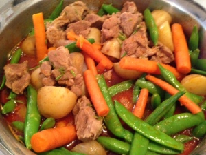 Rosemary Lamb Stew with Spring Vegetables