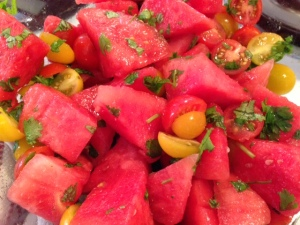 Spiced Watermelon and Tomato Salad