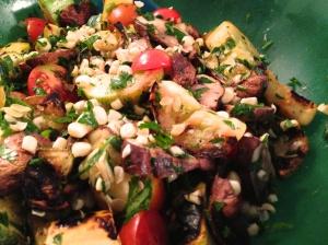 Squash an Mushroom Salad